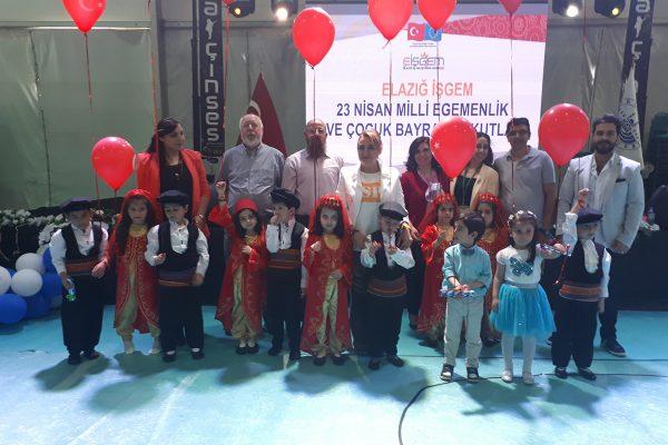 Elaziğ İŞGEM Ulusal Egemenlik ve Çocuk Bayramını Kutladı